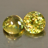Genuine 100% Natural (2) Sphene 1.16ct 5.0x5.0mm VS1 Madagascar