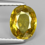 Genuine Yellow Sapphire 1.26ct 7.7x6.0x2.9mm SI2 Madagascar