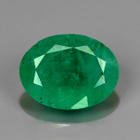 Certified 100% Natural Colombian Emerald 1.63ct 9.0 x 7.0mm Oval SI2
