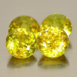 Genuine 100% Natural (4) Sphene 0.55ct 5.0x5.0x3.6mm VS1 Madagascar