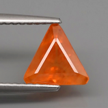 Genuine Orange Sapphire 1.53ct 7.5 x 7.0mm SI1 Clarity Tanzania