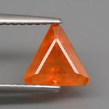 Genuine Orange Sapphire 1.53ct 7.5 x 7.0mm SI1 Clarity Tanzania