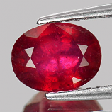 Genuine Ruby 2.45ct 8.4 x 6.5mm Oval SI Clarity
