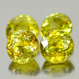 Genuine 100% Natural (4) Sphene 0.65ct 5.1x5.1x3.8mm VS1 Madagascar