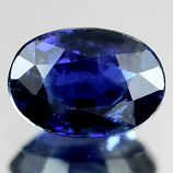 Genuine Blue Sapphire .63ct 6.0 x 4.2mm Madagascar SI