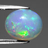 Genuine 100% Natural Cabochon White Opal 2.52ct 11.0x9.5x5.7mm Transparent Ethiopia