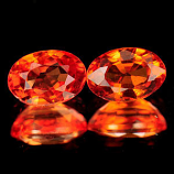 Genuine Orange Sapphire 0.65ct 5.7 x 4.0 x 3.2mm Tanzania VVS