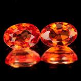 Genuine Orange Sapphire 0.65ct 5.7 x 4.0 x 3.2mm Tanzania VVS