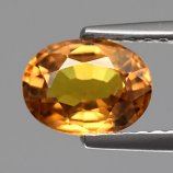 Genuine Yellow Sapphire 1.37ct 7.2x5.5x3.6mm SI1 Tanzania