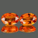 Genuine Orange Sapphire .55ct 5.9 x 4.1mm Oval VVS Clarity