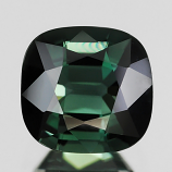 Genuine 100% Natural GREEN TOURMALINE 1.76ct 7.2 x 6.9mm Cushion Cut