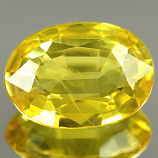 Genuine YELLOW SAPPHIRE .70ct 6.9 x 5.0 x 2.1mm Oval