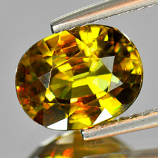 Genuine 100% Natural Sphene 1.87ct 8.7x6.8x4.0 VS1 Madagascar
