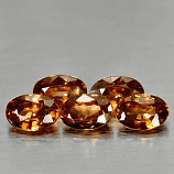 Genuine 100% Natural Imperial Zircon .75ct 6.1 x 4.1mm Oval VS1 Clarity