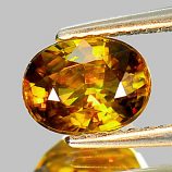 Genuine 100% Natural Sphene 1.26ct 7.2 x 5.5mm Oval VS1 Clarity
