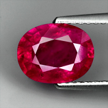 Genuine Ruby 2.19ct 9.0 x 7.0mm Oval SI2 Clarity