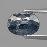 Genuine Bluish Green Sapphire 1.01ct 6.8x5.0x3.3mm SI1 Madagascar